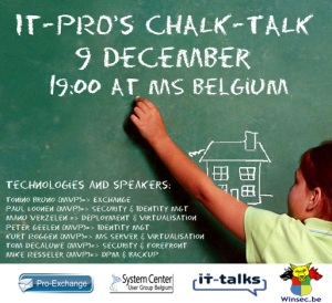 Belgian IT Pro Chalk-talk