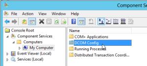 2. open DCOM config