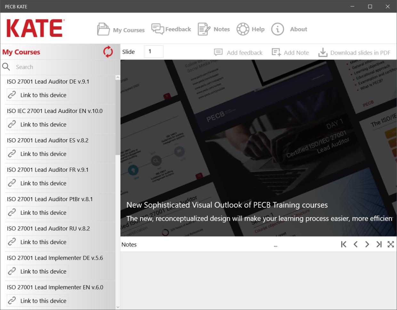 PECB KATE 3.2 : Log on / Log Off / Switch user