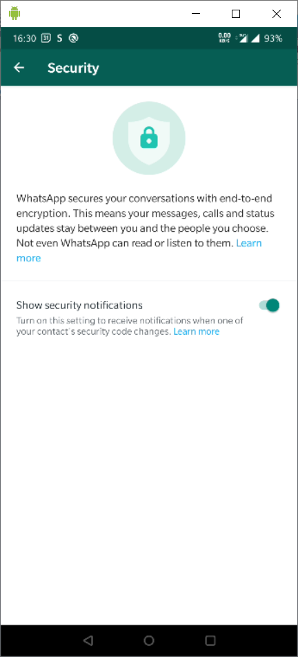 This image has an empty alt attribute; its file name is whatsapp_settings_security.png